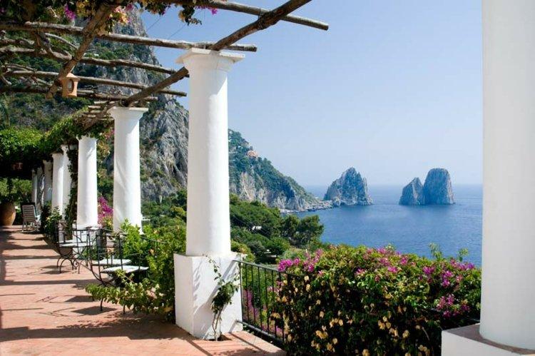vistas lujosas terraza clasica Salerno