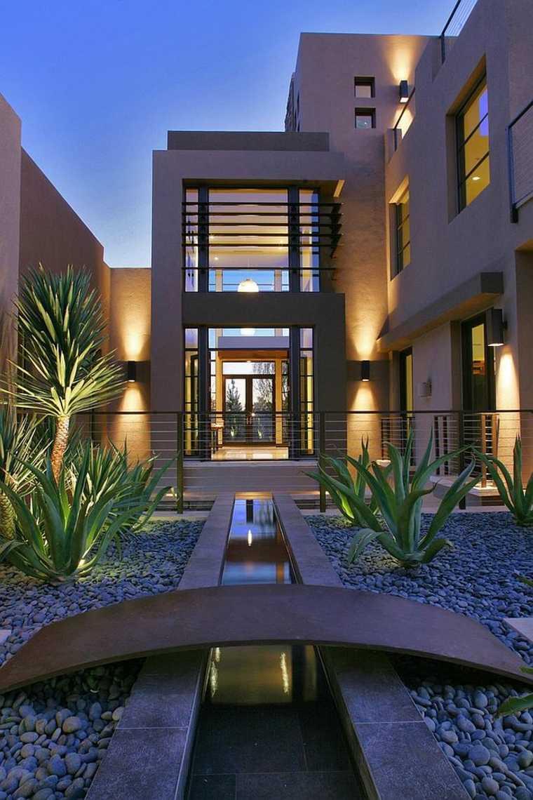 zona jardin diseño estilo moderno