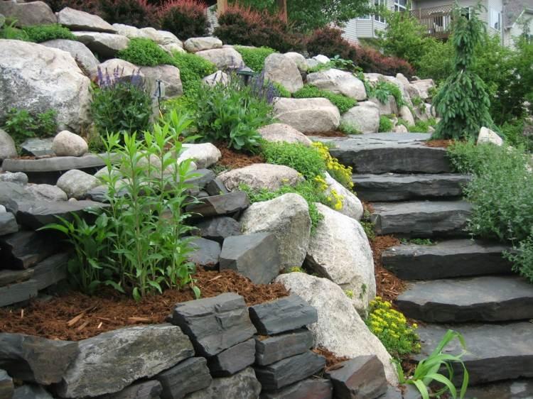 zonas aterrazadas jardines modernos