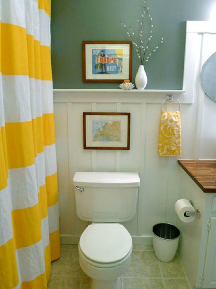 accesorios baño color amarillo