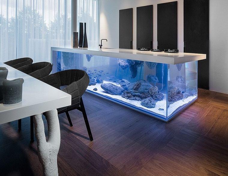 acuario diseño cocina bajas suelos