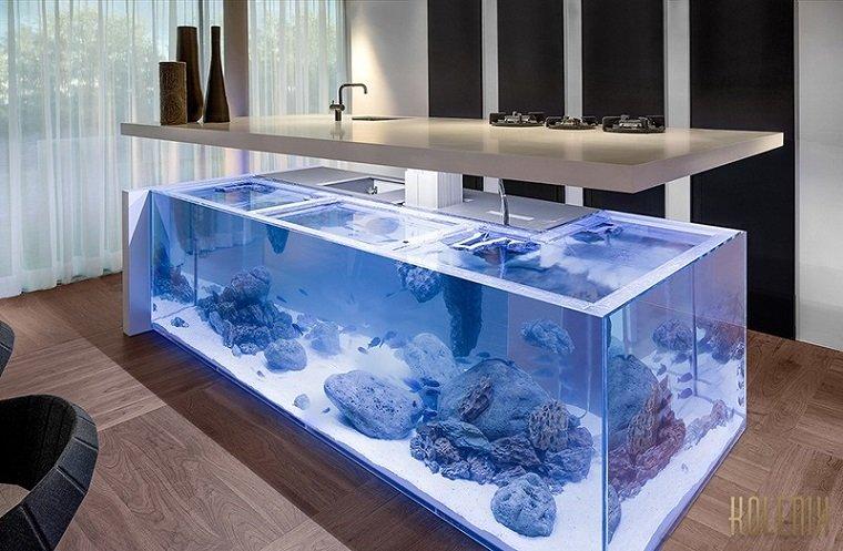 acuario diseño cocina soluciones estilo silones