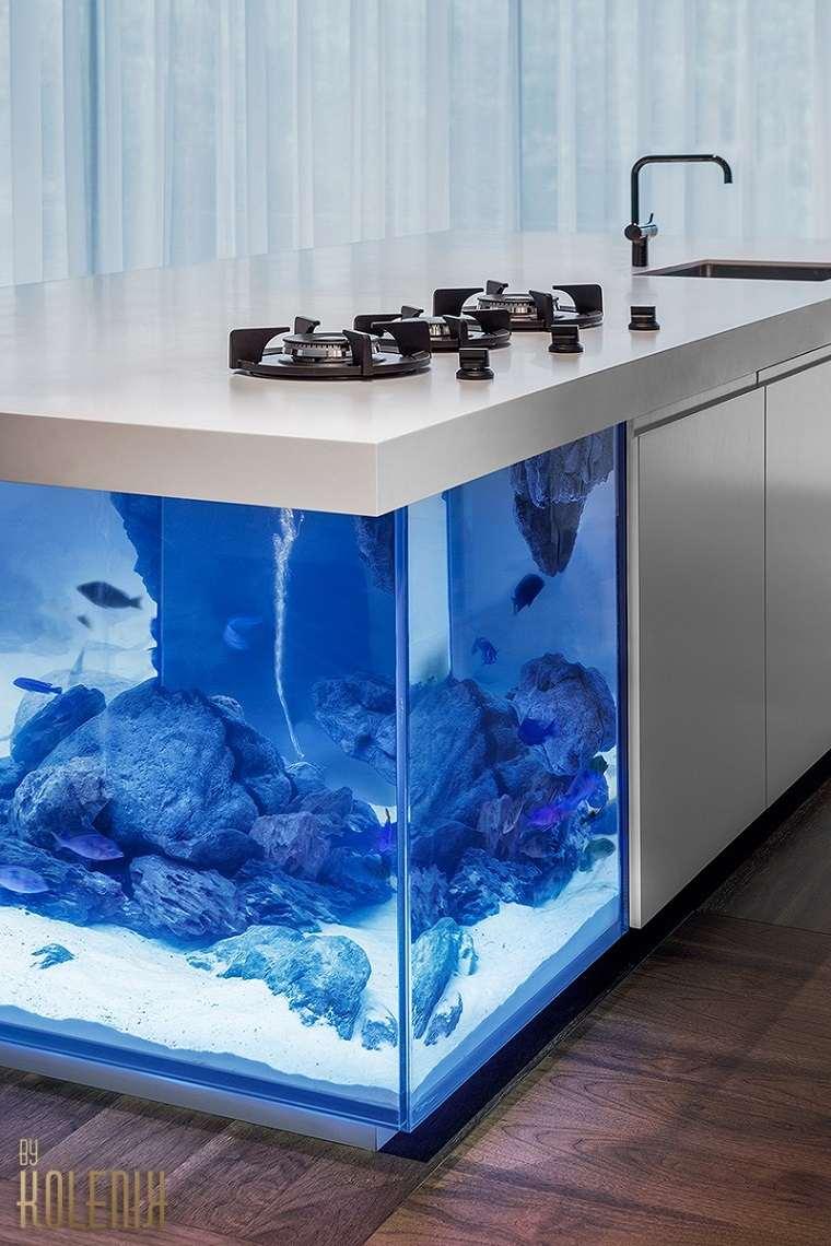 acuario diseño liminarias espacio fregaderos