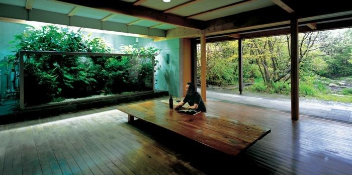acuarios elementos diseño madera espejos mesas