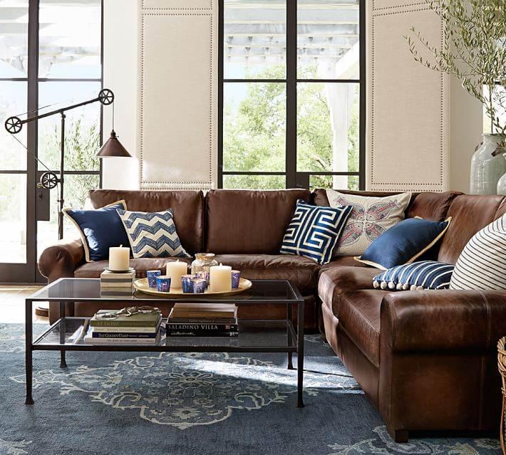 alfombra azul suelo salon moderno ideas