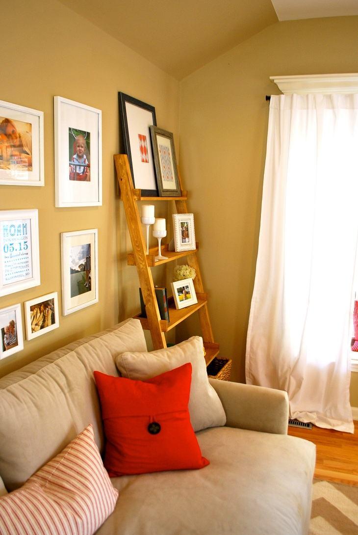 el espacio muebles estantes conceptos cojines