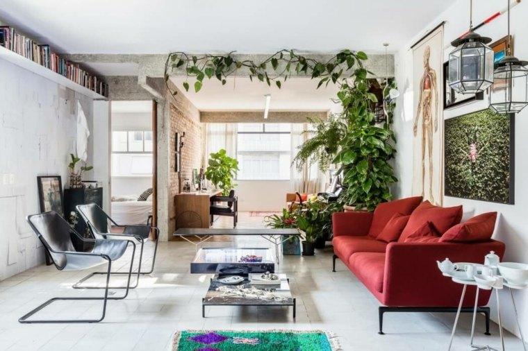 apartamento Joao pared ladrillos