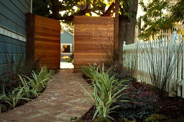 arbustos de jardin camino entrada puertas ideas