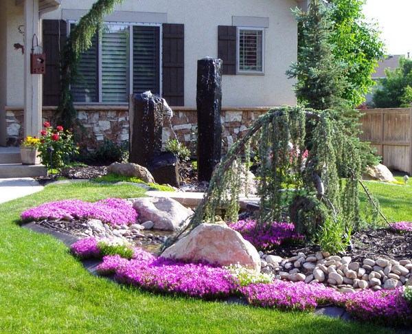arbustos de jardin fuentes originales flores ideas