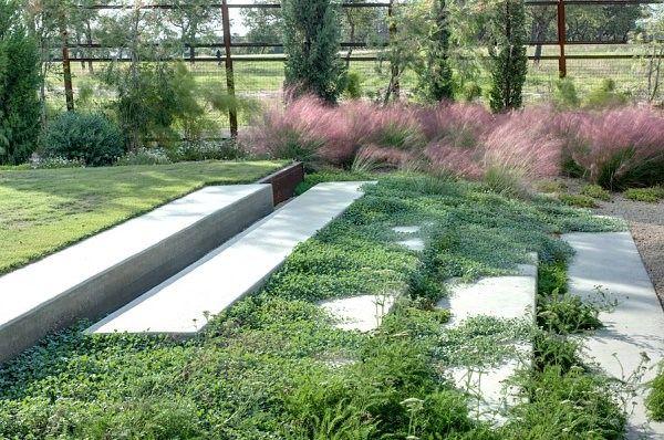 arbustos jardin losas escalera flores ideas