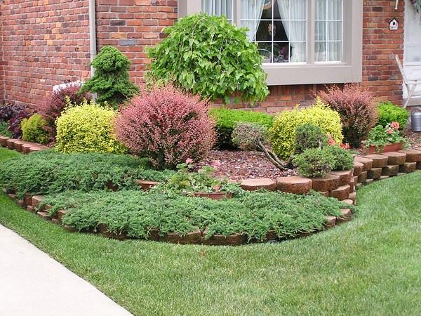 arbustos jardin terrazas acero corten plantas ideas