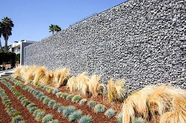 arbustos jardin valla piedra caminos ideas