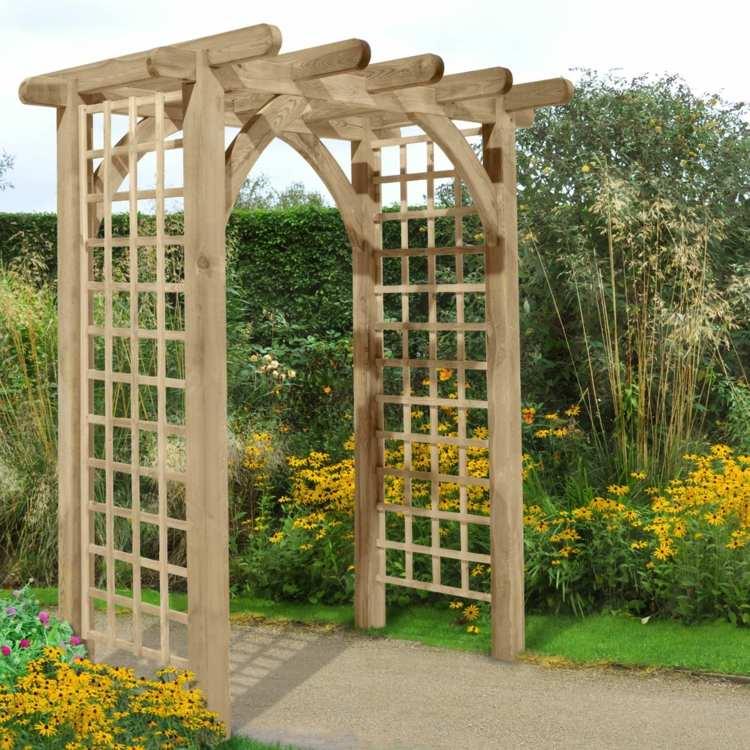 Jardines detalles para llenarlos de vida con peque as ideas - Arcos de madera para jardin ...