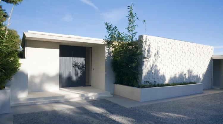 bloques de hormigon exteriores jardines muros bambu