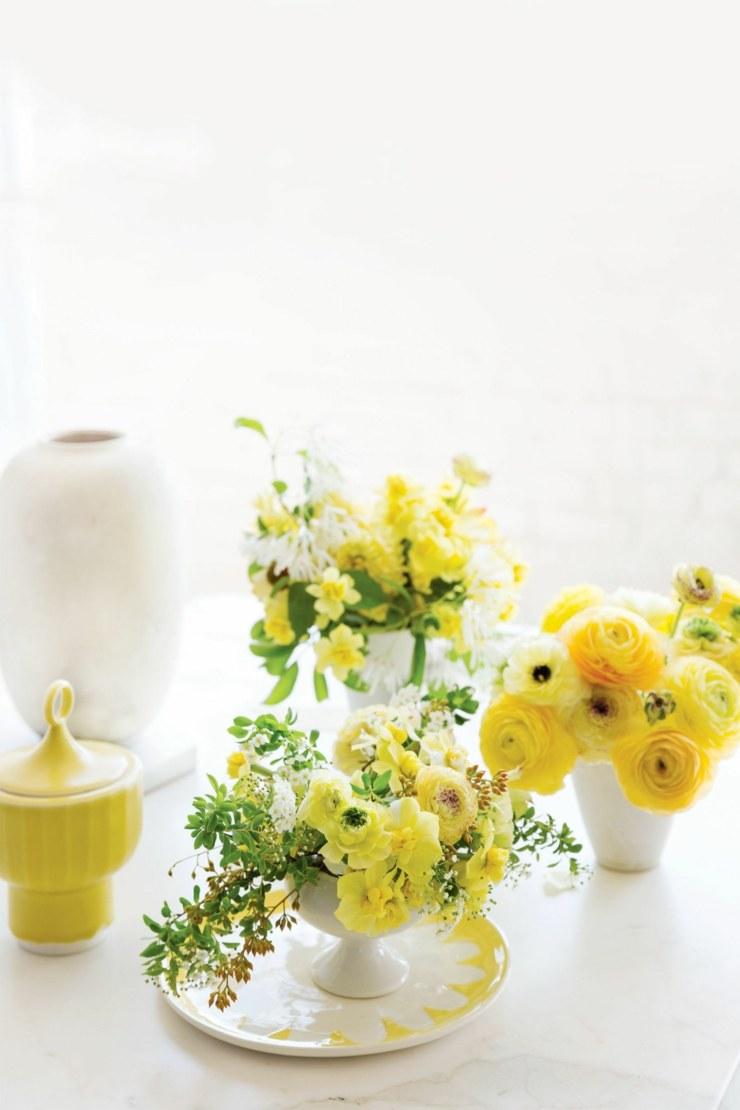 Arreglos florales 26 centros de mesa con flores de primavera : arreglos florales centro mesa comida flores amarillos from casaydiseno.com size 740 x 1110 jpeg 303kB