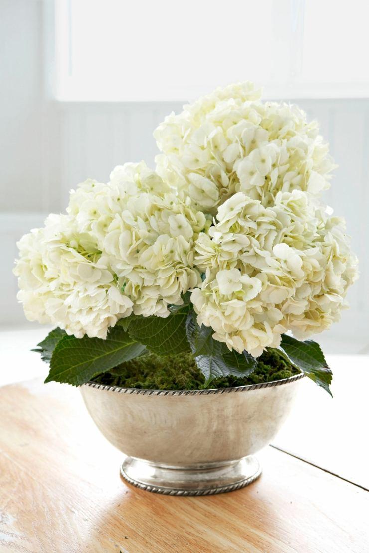 arreglos florales centro mesa comida flores blancos ideas