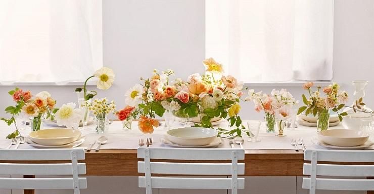 arreglos florales primavera mesa ramos botellas ideas