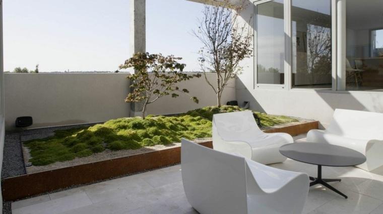 azotea diseño mini jardin