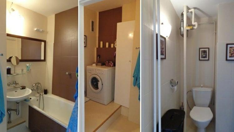 Interiores de casas renovadas con atractivos detalles for Remodelacion de banos pequenos