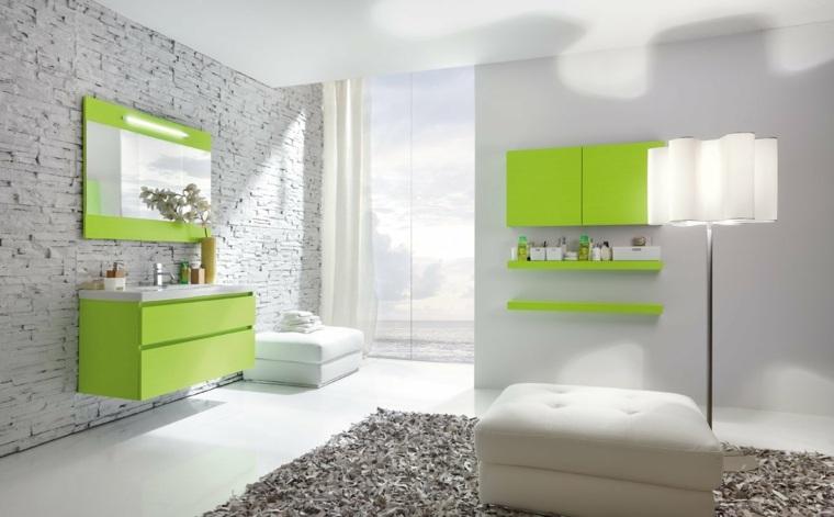 baños con encanto tonos atractivos lamparas