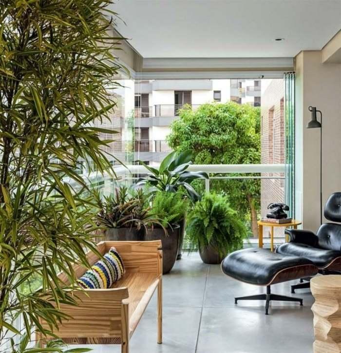 balcon proteccion sillon coleccion plantas
