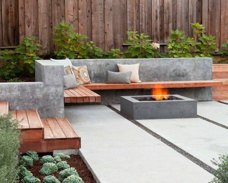Bloques de hormigon en el jard n 34 dise os de moda for Bancos de terraza y jardin