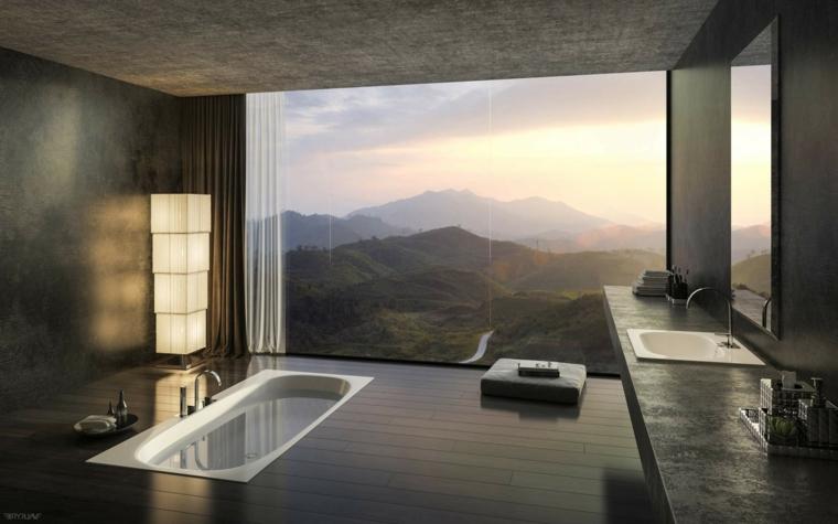 baños de lujo vistas montana