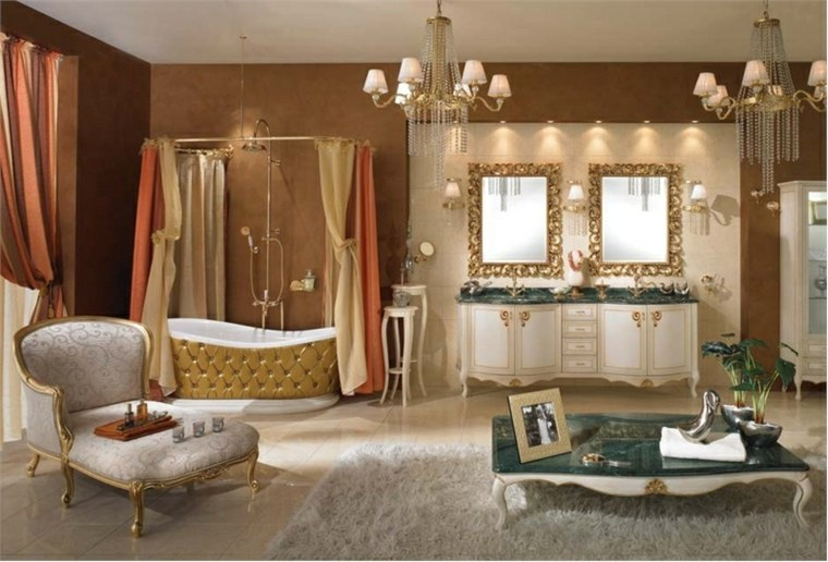Lamparas Baño Vintage: marcos de estilo vintage, y las lámparas de araña de estilo retro
