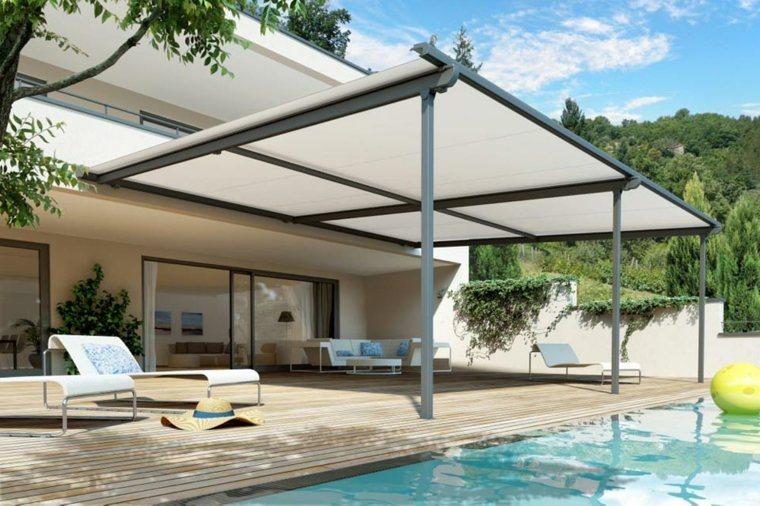 Sombra para espacios exteriores con art culos imprescindibles for Modelos toldos para patios