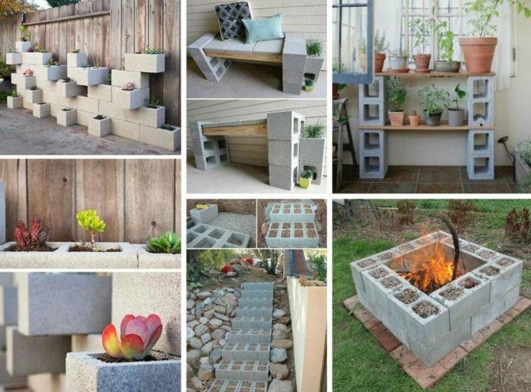 bloques cemento decorativos jardines