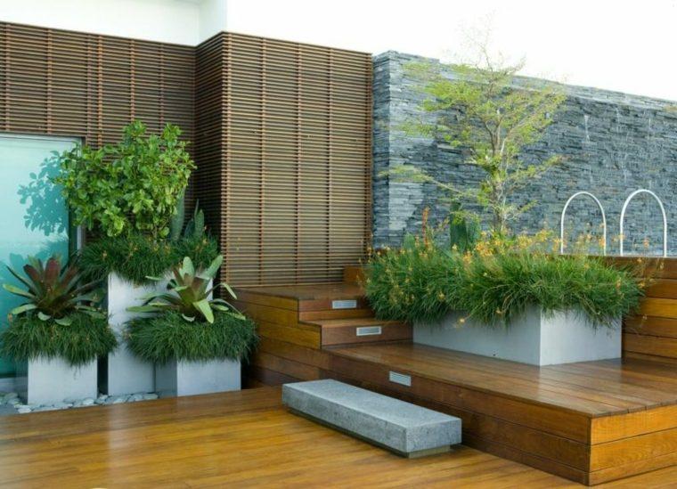 bloques cemento decoracin jardin