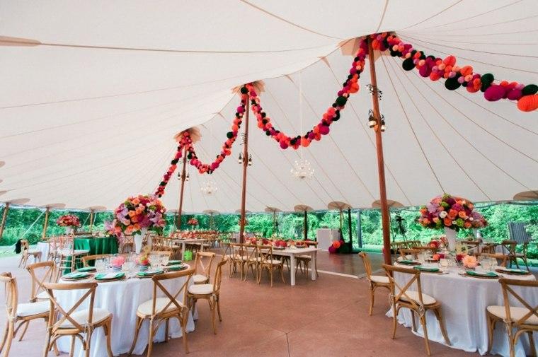 boda verano carpa mesas