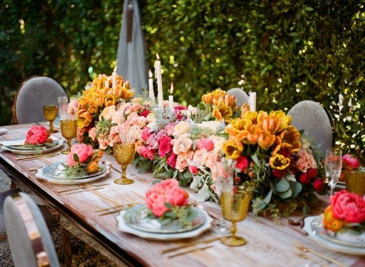 bodas primaverales opciones decoracion mesa madera ideas