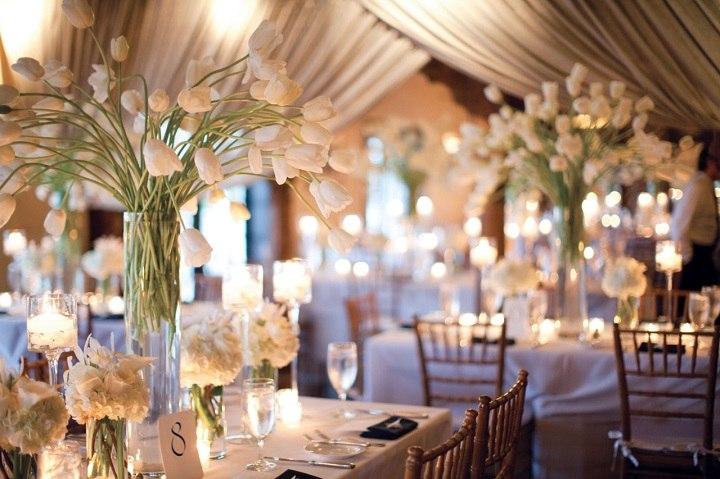 bodas primaverales opciones decoracion tulipanes blancos ideas