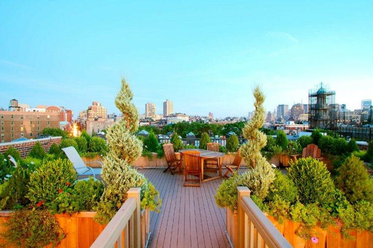 jardineria terraza atico moderno