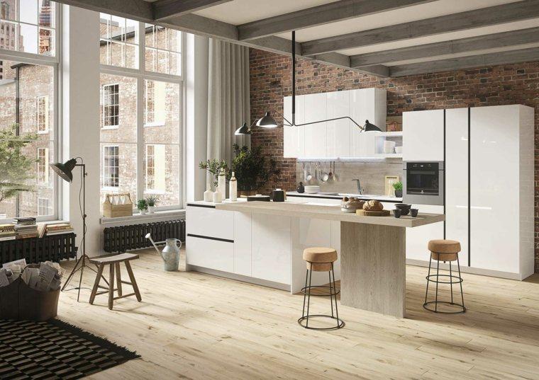 bonita cocinas minimalistas muebles blancos