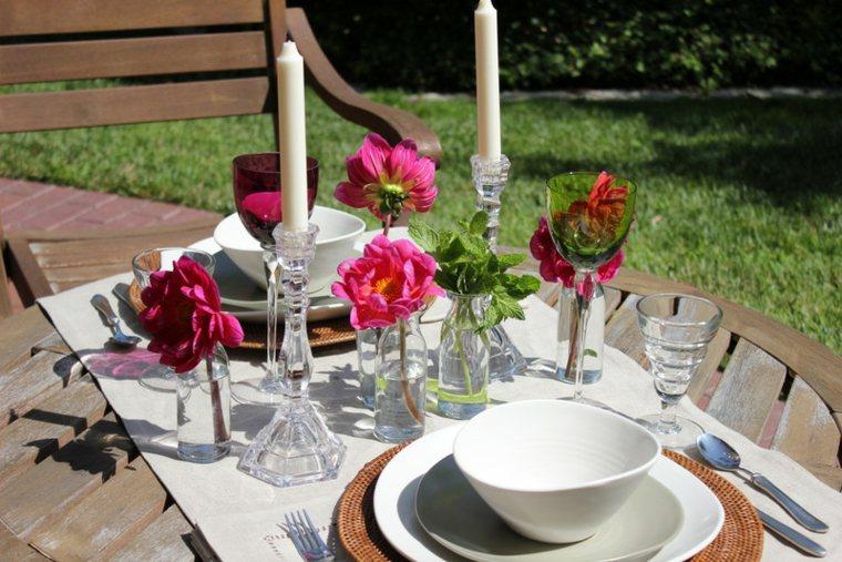 bonita foto decoracion mesa verano