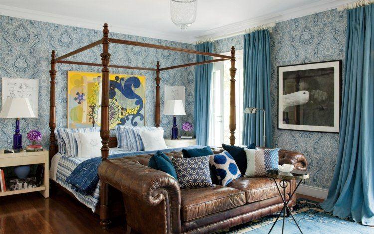 Cortinas para dormitorios - veinticuatro diseños de moda -