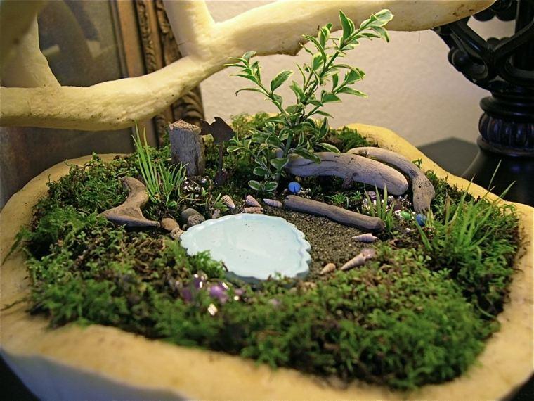 bonito diseño mini jardín