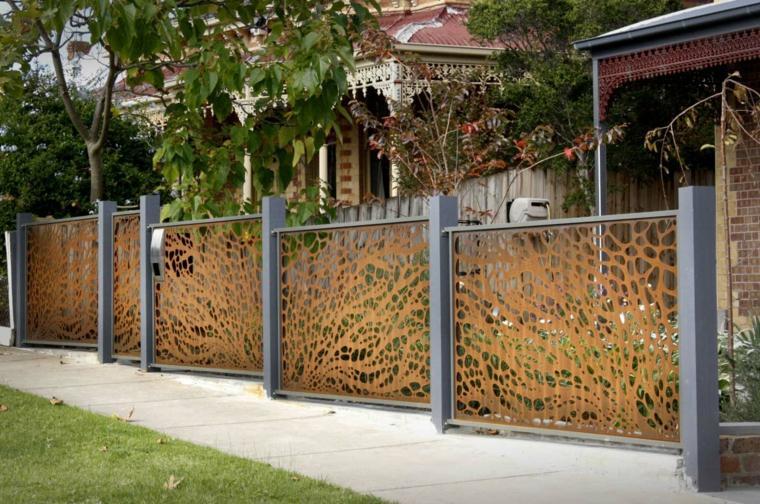 bonito diseño valla jardin moderna