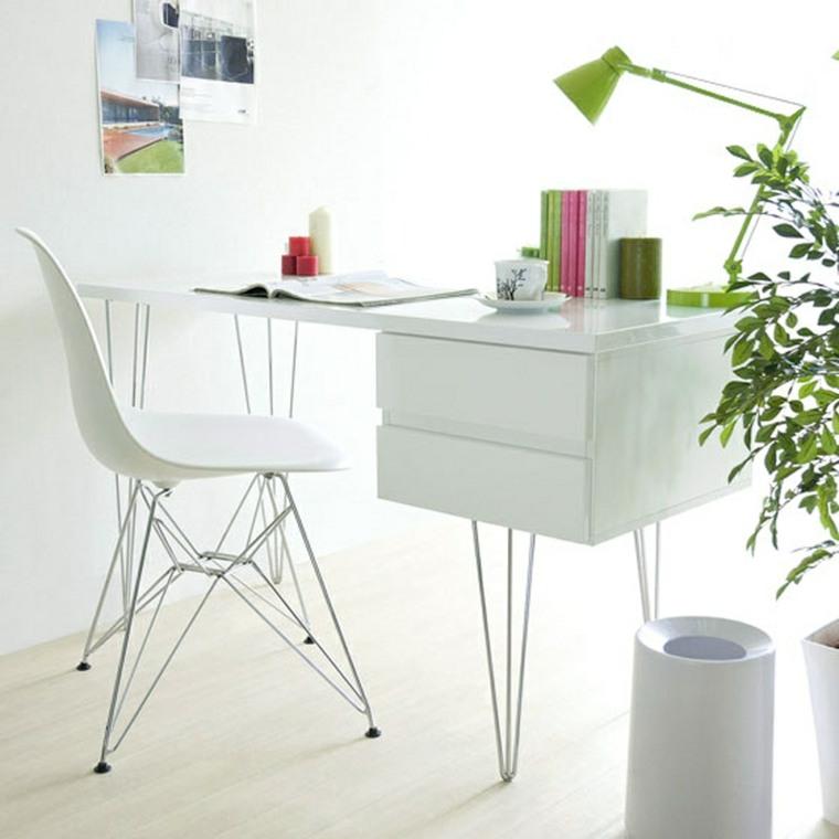 bonito escritorio moderno de color blanco