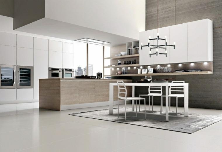 Cocinas Nuevas Tendencias. Simple Cocina Blanca Diseo Moderno With ...