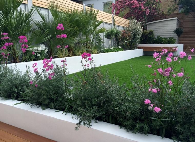 Parcelas rectangulares y jardines de chalets adosados 24 for Jardines pequenos redondos