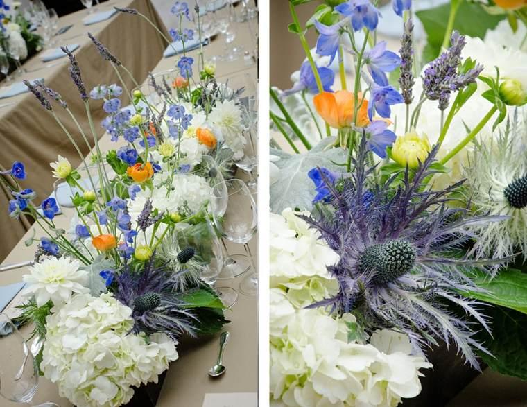 bonitos centrtos mesa flores colores