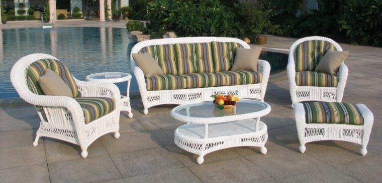bonitos muebles mimbre estilo colonial