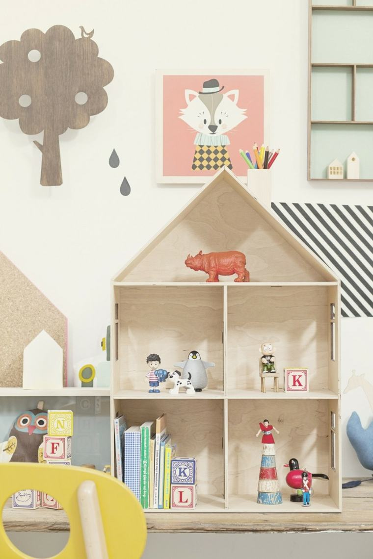 caja infantil madera ninos estantes