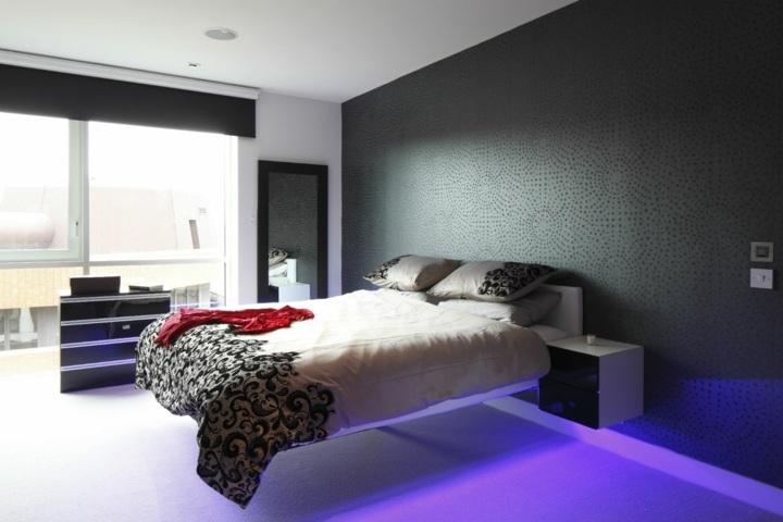 cama flotante interesante estilos negro