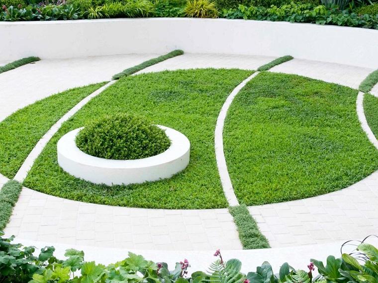 camino jardin cesped diseno original ideas