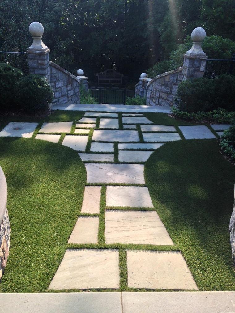 caminos jardin cesped escaleras mansion ideas