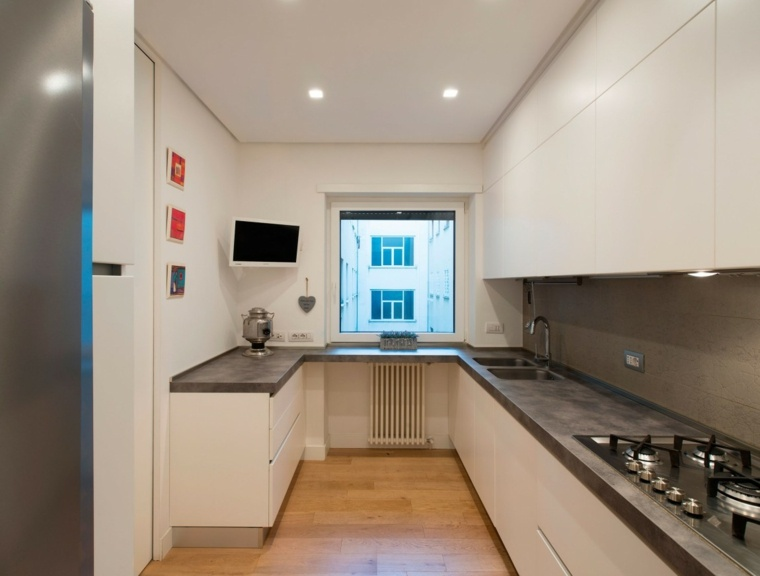 casa contemporanea roma cocina pequena ideas